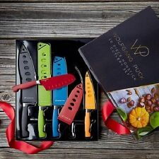Wolfgang Puck Bistro Elite 10 Piece Nonstick Cutlery Set Colored Knife Set
