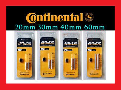 Continental Presta Valve Extension Pair 20// 30// 40// 60mm RVC Tube Extender