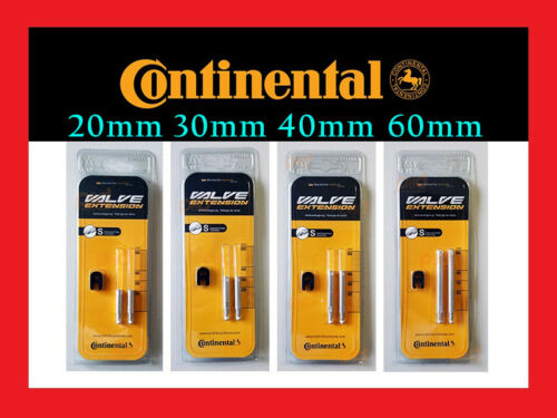 Pair Continental Bicycle Bike Presta Valve Extension 20 30 40 60 mm RVC Extender