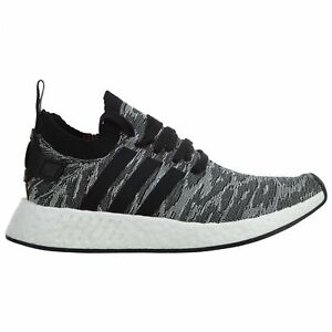 37caab1e2 Adidas NMD R2 Primeknit Mens BY9409 Black White Boost Running Shoes ...