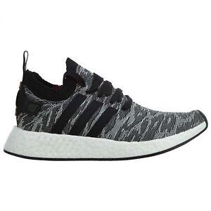 1d687b35b Adidas NMD R2 Primeknit Mens BY9409 Black White Boost Running Shoes ...