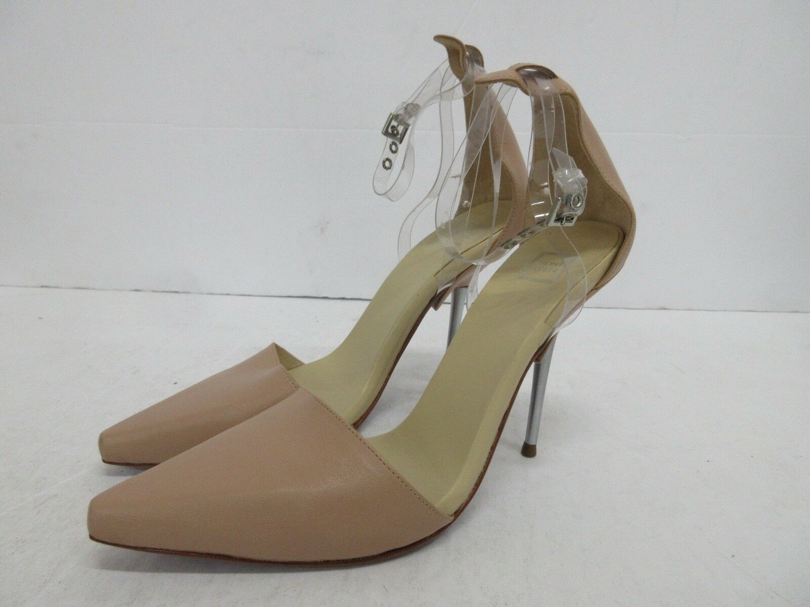 Herve Leger Colette Clear Toe Strap Point Toe Clear Pump Größe: 38 EUR, 8 US #2 f535e6