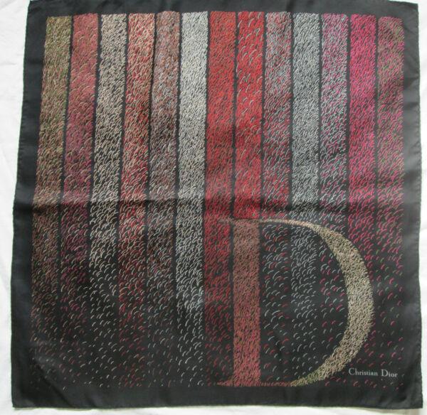 professionnel produit chaud produits de qualité Superbe Foulard CHRISTIAN DIOR 100% soie TBEG vintage scarf