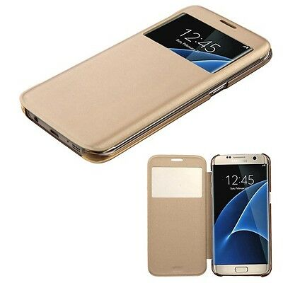 Gold Silk Texture MyJacket Phone Protector Cover Case for Samsung Galaxy S7 edge