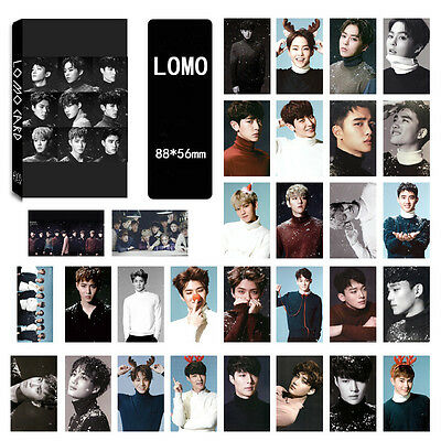 30pics set EXO  CALL ME BABY EXODUS SING FOR YOU LOMOCARDS Kpop goods New