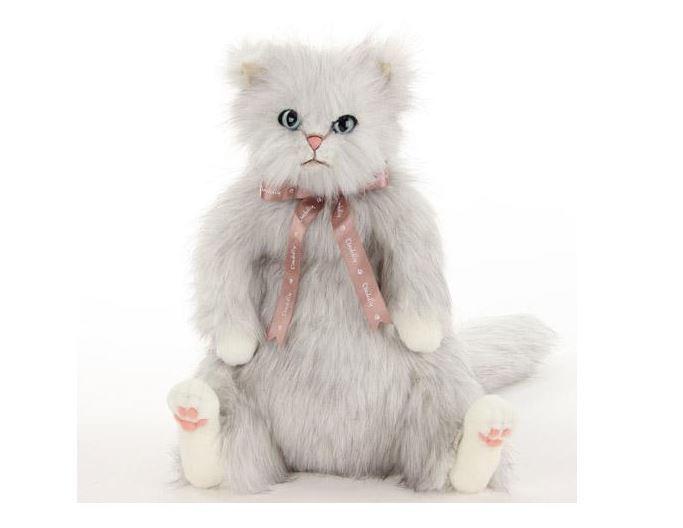 Bianca Cat blu eyes Stuffed Plush Toy Animal Big Large Long hair Japan 55cm