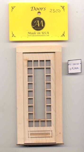 Door - Craftsman 23 Light - 2320 wood dollhouse miniature 1:12 scale Made in USA
