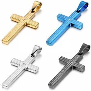 Cruz-Collar-Cadena-varios-Damas-De-Acero-Inoxidable-joyeria-para-hombre-Jesus
