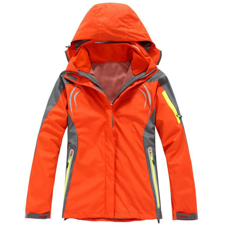 D19 Women Orange Ski Snow Snowboard Winter Waterproof Jacket 6 8 10 12 14