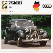 1937-1941 WANDERER W23 Classic Car Photograph / Information Maxi Card