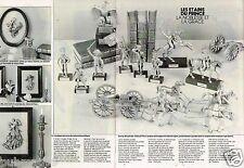 Publicité Advertising 1986 (2 pages) Les Etains du prince