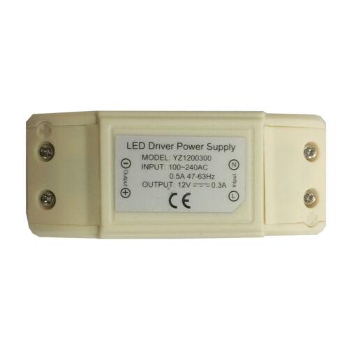 """Chrome Bianco Grill /& Luce 3w LED Lampadina di ricambio per qualsiasi Griglia 100mm 4/"""""""