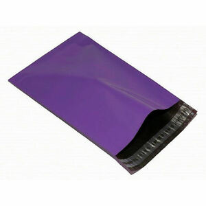 "10 PURPLE 10"" x 14"" Mailing Postal Parcel Packaging Bags 250x350mm Violet Co-Ex"