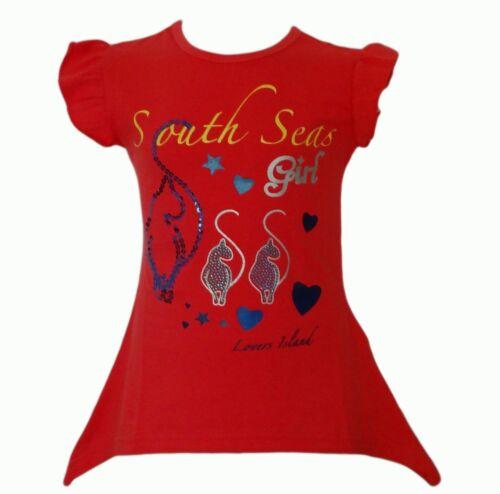 Fille Longtop Neon Top Shirt Shirts T-shirt tunique Print Chemisier кurzarm strass