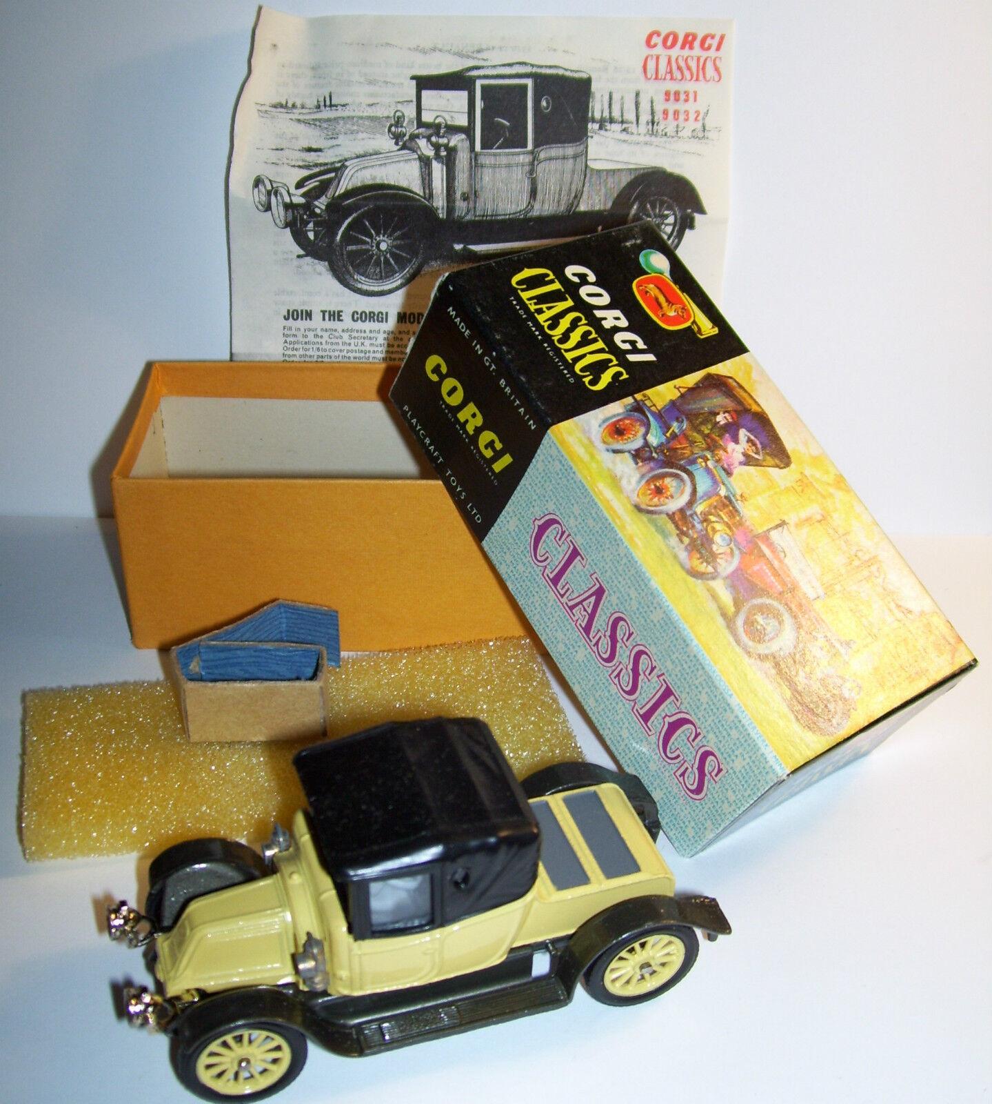 Original Old Corgi Classics Britain Renault 12  16 1910 Coupe Ref 9032 i rutan
