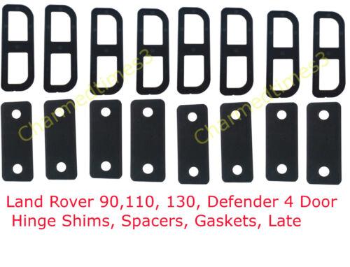 juntas Land Rover 90,110 Bisagra Cuñas Separadores 130 Defensor 4 Puertas tarde