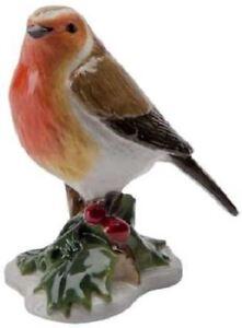 New-boxed-JOHN-BESWICK-Christmas-Robin-miniature-bird-figure-JBMB5