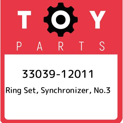 NO.3 3303912011 33039-12011 GENUINE OEM SYNCHRONIZER RING SET