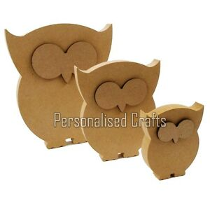 image is loading free standing 18mm mdf owl shape crafts 200mm
