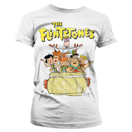 Officially Licensed The Flintstones Official Women T-Shirt S-XXL Sizes