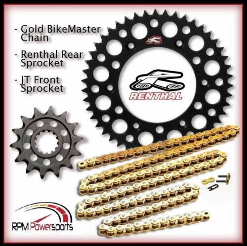 Renthal Black Sprocket and Gold Chain Kit Suzuki Rmz450 Rmz 450 2013-15 13-52T