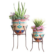 Southwest Garden Planters - Set of 2, by Collections Etc