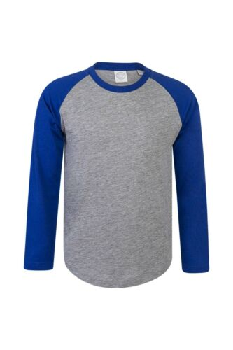 Kids Baseball T-Shirt SKINNIFIT Boys Girls T Shirt Cotton Long Sleeve Casual TOP