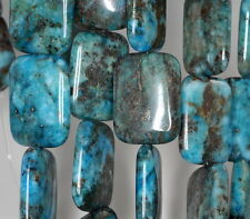 30X22MM BLUE LAGOON PYRITE INCLUSIONS QUARTZ GEMSTONE RECTANGLE LOOSE BEADS 8""