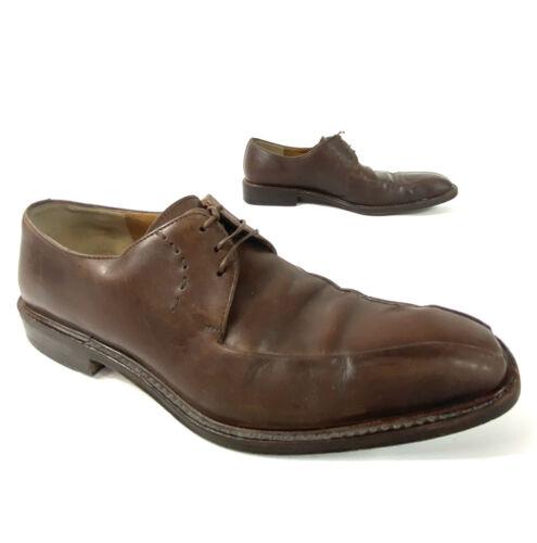 Salvatore Ferragamo Mens Derby Dress Shoes Square
