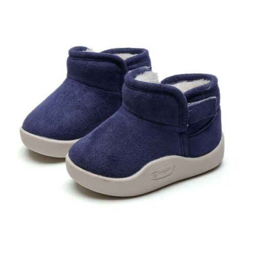 Toddler Infant Kids Baby Boys Girls Solid Winter Warm Short Boots Booties Shoes