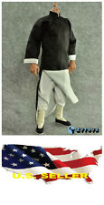 1/6 black color Robe costume Ip man Bruce Lee Kung Fu suit set ❶❶US seller❶❶