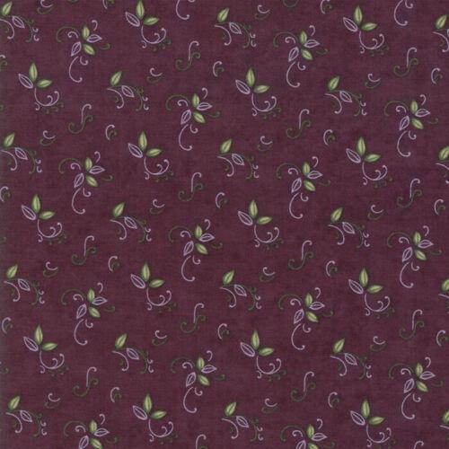 Moda Fabric Fresh Off The Vine Eggplant Bouquet Purple Per 1//4 Metre