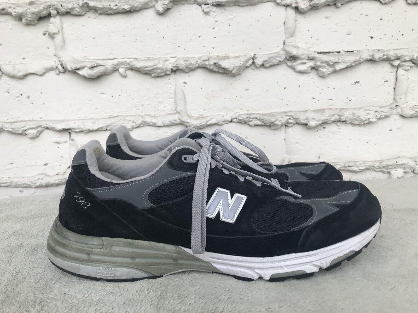 Excelente condición usada para hombres 993 US 15 2E New Balance MR993BK Negro Running Zapatos TENIS