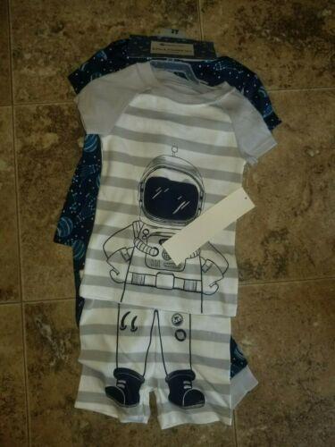 New Boys Members Mark Pajamas PJ Set Dinosaur Snack Pizza Astronaut 4 Piece Baby