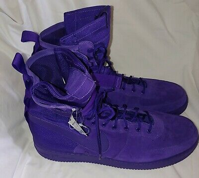 Nike High Tops Air Force One Size 18 Purple Suede 884024-500 New  191885467597 | eBay