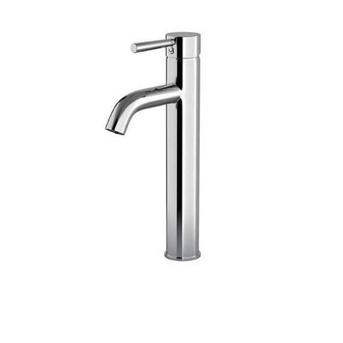 Chrome Mixer TapTall Single Lever Monobloc Bathroom Basin Sink
