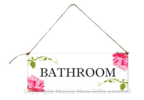 Suspendu salle de bain toilette WC porte métallique Style Chic minable Plaque signe avec ficelle