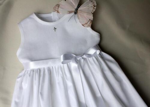Junge SWAROVSKI schlicht cTaufkleid  Baby Mädchen  56-62-68-74-80-86