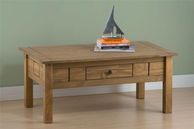 Birlea Santiago Coffee Table with Drawer Corona Mexican Solid Wood Furniture