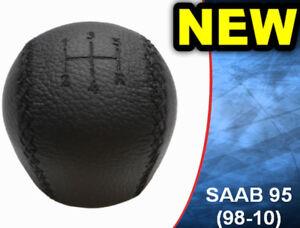 NEW-GEAR-KNOB-SHIFT-KNOB-SAAB-95-9-5-LEATHER-4777074-1998-2010-5-SPEED-NEW