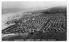 Seashore Caravan Camp Great Yarmouth Air Aerial View  RP old pc used 1960