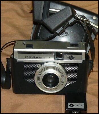 100% QualitäT Agfa Iso-rapid I Mit Tasche Und Isi-c Blitz Vintage Deko