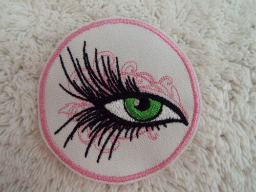 "E28 Lady Eye Pink Circle 3/"" Embroidery Iron-on Custom Patch"