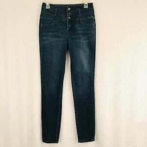 1a3941f012605 Refudge Hi Rise Skinny Jeans Size 8 Dark Blue Faded Denim Wash | eBay