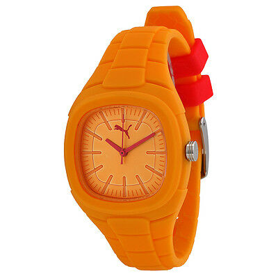 Puma Bubble Gum Small Yellow Dial Yellow Silicone Unisex Watch PU102882008