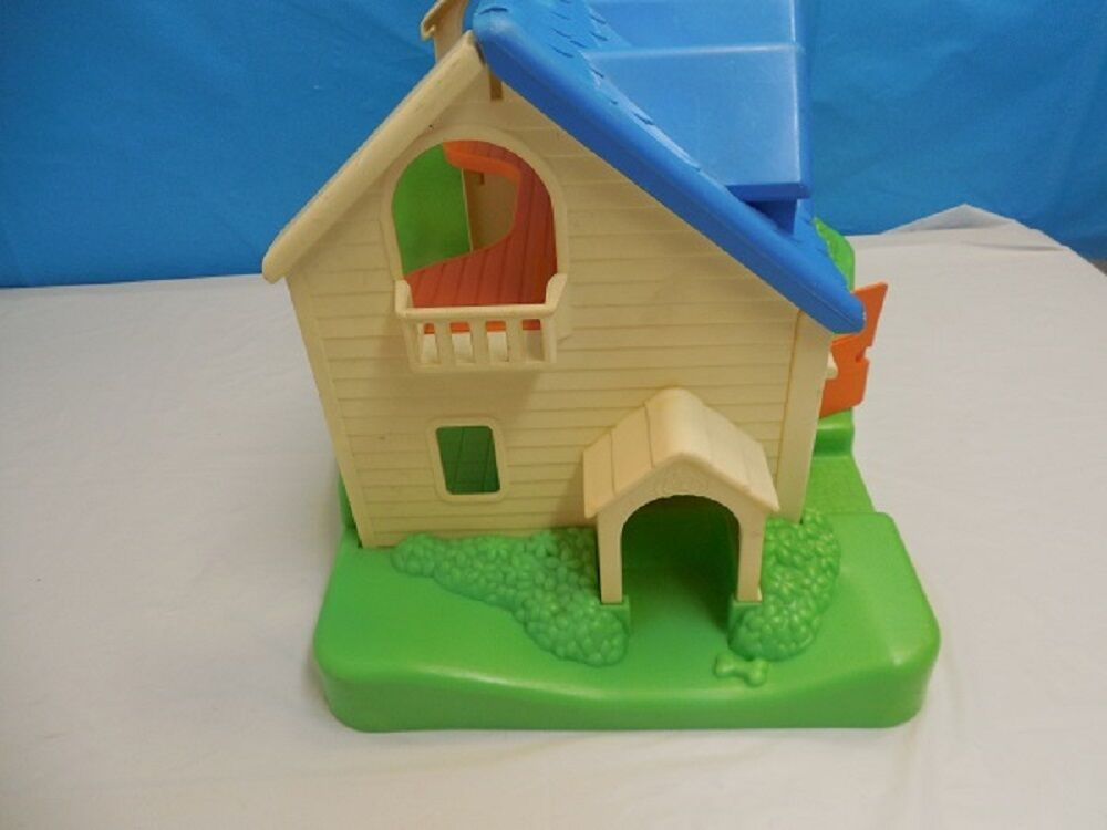 VINTAGE 1990 FISHER PRICE PRICE PRICE LITTLE PEOPLE PLAY HOUSE UNIT MOVING STAIRS PRESCHOOL 517fc5