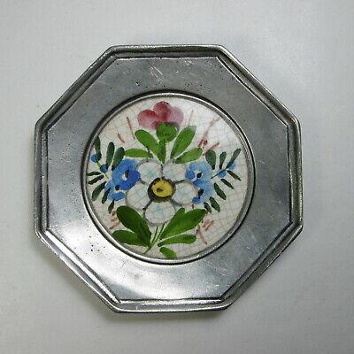 Piatto da parete in Peltro & Ceramica decorato a mano COSI