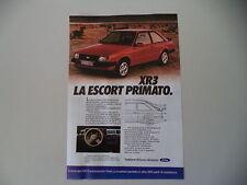 advertising Pubblicità 1980 FORD ESCORT XR3