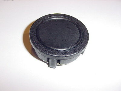 "SMOOTH FLAT BLACK BOAT STEERING WHEEL CENTER CAP  NEW 2"" ID // 2-1/4 TOP"