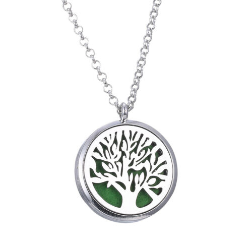 2018 Hot Aroma Diffuser Locket Stainless Steel  Necklace Pendant  Life Tree